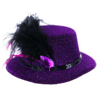 Glittery Mini Top Hat Fascinator