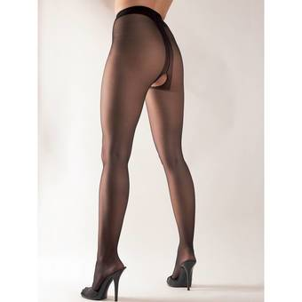 Cottelli Sheer Crotchless Tights