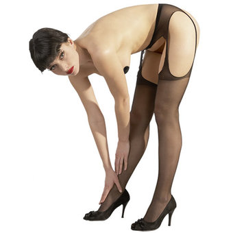 Cottelli Wide Open Crotchless Tights