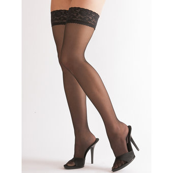 Cottelli Lace Top Sheer Stay Up Stockings