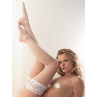Cottelli Bridal Lace Top Sheer Stay Up Stockings