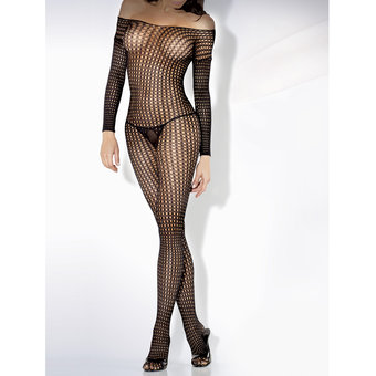 Fantasy Desire Long Sleeved Crochet Bodystocking