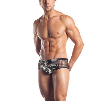 Fantasy Excite Fishnet and Camouflage Boxer Shorts