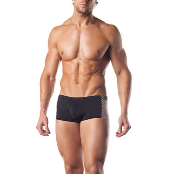 Fantasy Excite Lycra Boxer Shorts with Fishnet Panels