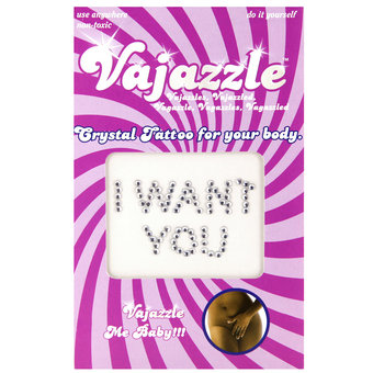 Vajazzle I Want You Body Tattoo