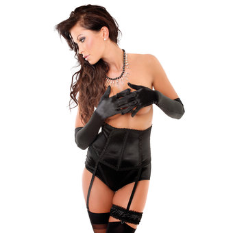 Soft Line Lalia Waspie and Crotchless Knicker Set
