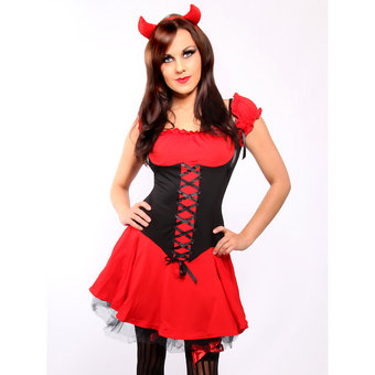 Fever Sexy Devil Costume with Horns