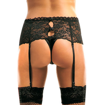 Soft Line Lace Garter Knickers