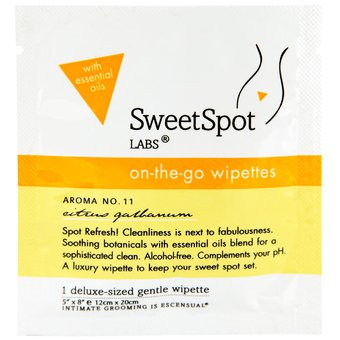 SweetSpot On-The-Go Wipettes Intimate Hygiene Wipes (Single Pack)