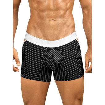 PPU Underwear Striped Boxer Shorts with Open Sides