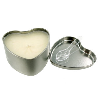 Tenth wedding anniversary - tin - massage candle