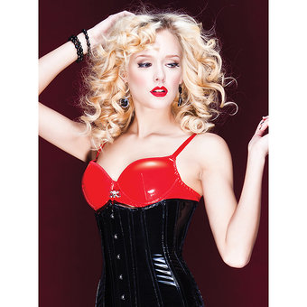 Coquette Darque PVC Padded Push Up Bra