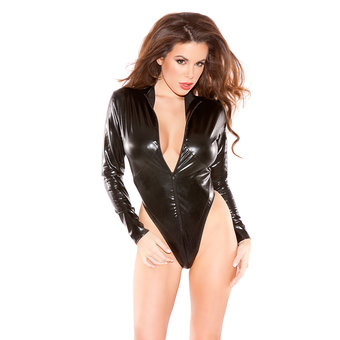 Kitten Wet Look Body with Front Zip
