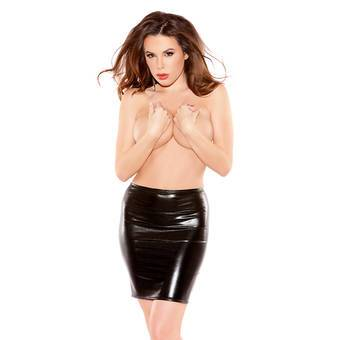 Kitten by Allure Fetishwear Wet Look Pencil Skirt