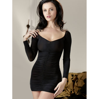 Cottelli Long Sleeved Sexy Mini Dress