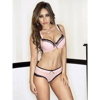 iCollection Padded Bra and Knicker Set