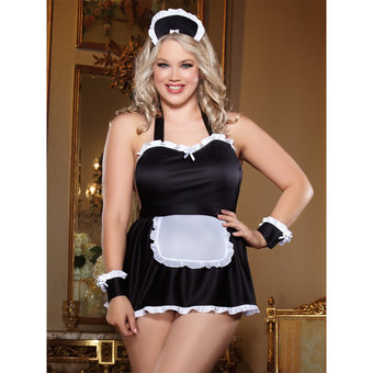 Dreamgirl Plus Size Dirty French Maid Costume Set