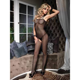 Leg Avenue Seamless Crochet Fishnet Bodystocking