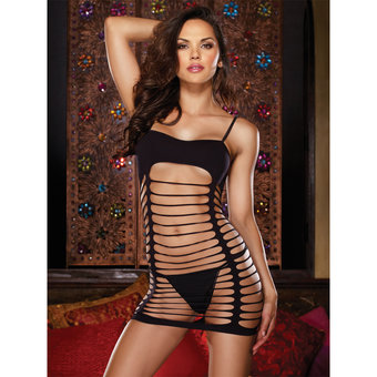 Dreamgirl Slash Dance Seamless Strappy Mini Dress