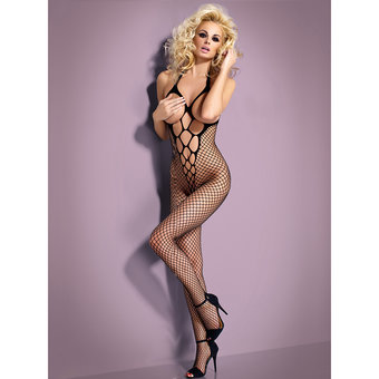 Obsessive Crotchless Fishnet Open Cup Bodystocking
