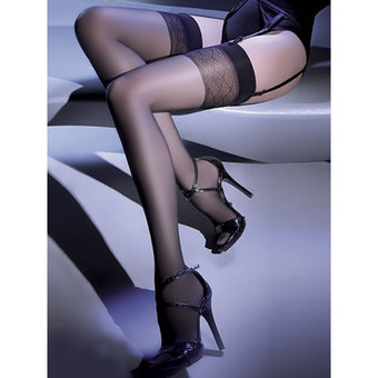 Gabriella Anika Diamond Patterned Top Stockings