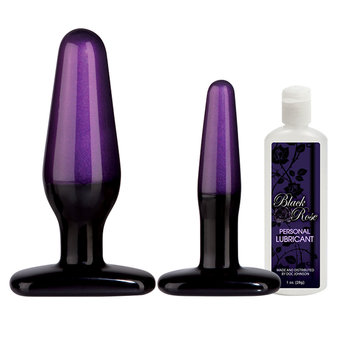 Doc Johnson Black Rose Analtrainer-Set - Stems of Seduction