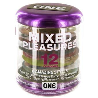 ONE Mixed Pleasures Condoms (12 Pack)