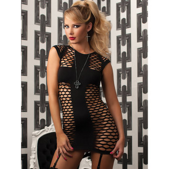 Seven Til Midnight The Holy See Through Mini Dress