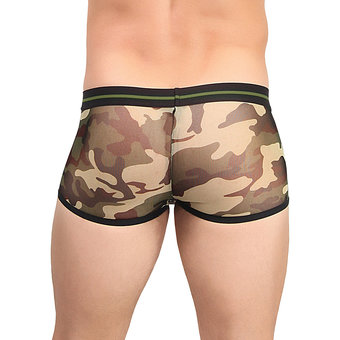 Male Power Sheer Camouflage Mini Boxer Shorts