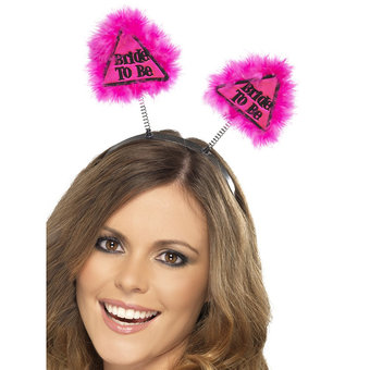Miss-Chief Bride to Be Warning Pink Boppers