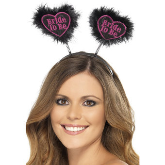 Miss-Chief Bride to Be Love Heart Black Boppers