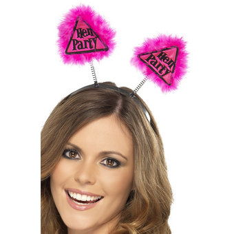 Miss-Chief Hen Party Warning Pink Boppers