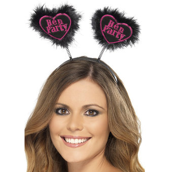 Miss-Chief Hen Party Love Heart Black Boppers