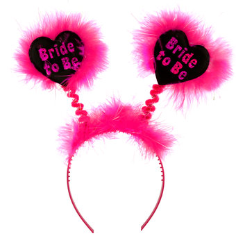 Disco Bride to Be Fluffy Black and Pink Boppers