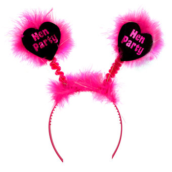 Disco Hen Party Black and Pink Boppers