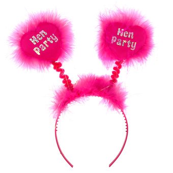 Disco Hen Party Pink and Silver Boppers
