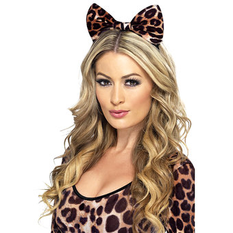 Fever Brown Cheetah Print Bow Headband