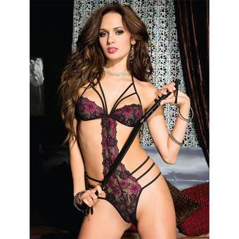 Music Legs Strappy Romantic Lace Teddy
