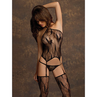 Oh La La Cheri Butterfly Lace Cami Top and Stockings Set