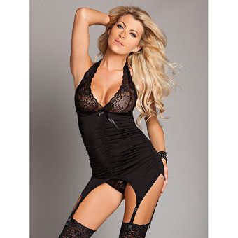 Kiss Me Halter Neck Cami Top with Garters