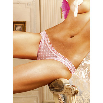 Baci Lingerie Heart Pattern Sheer Knickers