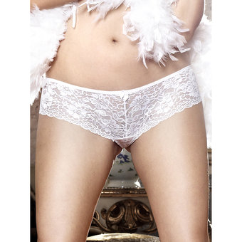 Baci Lingerie Plus Size Low Rise Lace Boyshort Panties