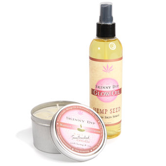 Earthly Body Massage Oil & Massage Candle Gift Set