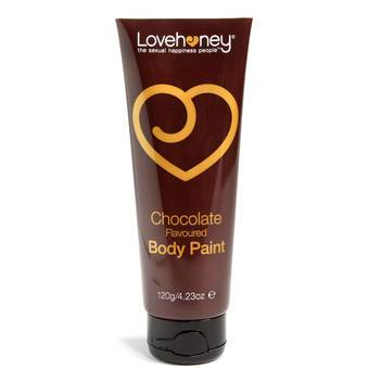 Lovehoney Lovers Körperfarbe - 120 ml Tube - Schokolade