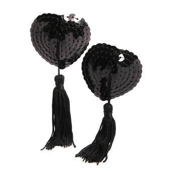 Lovehoney Sequin Nipple Tassels Black