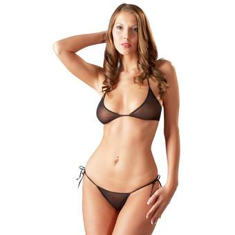 Cottelli See Through Bikini Set