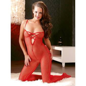 Mandy Mystery Open Crotch Bodystocking