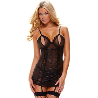 Ann Devine See Through Peek-A-Boo Chemise