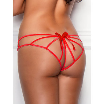 iCollection Cage Back Crotchless Knickers