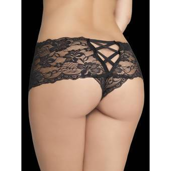 Oh La La Cheri Floral Lace Crotchless French Panties